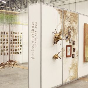 Exhibition view showing art by Janet Botes, Danelle Malan and Stefanie Schoeman