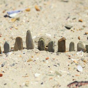 Row of rocks, Gordon's Bay, South Africa